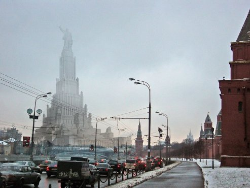 Так выглядела бы Москва (1)